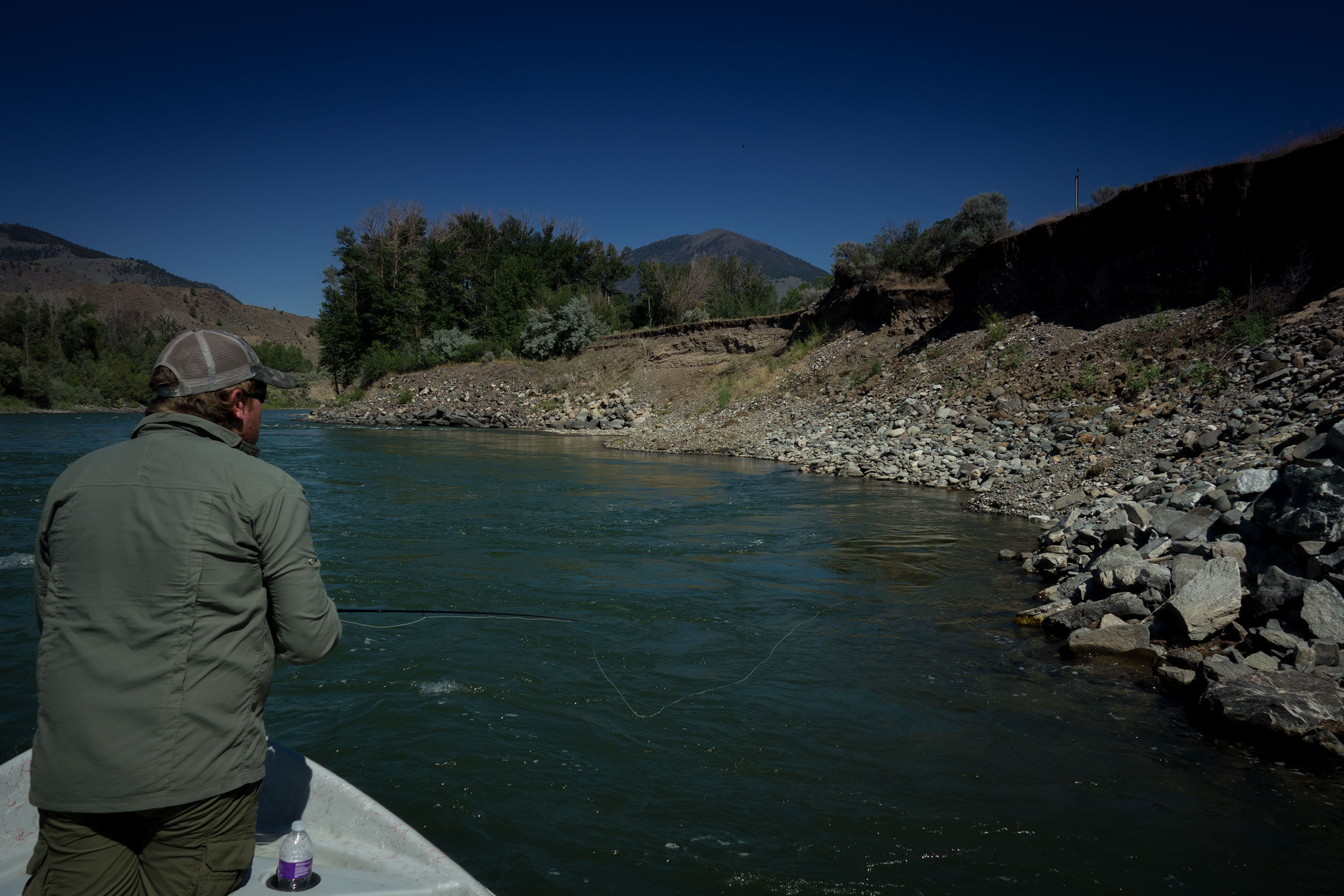 Searching the edges with double dry fly rigs