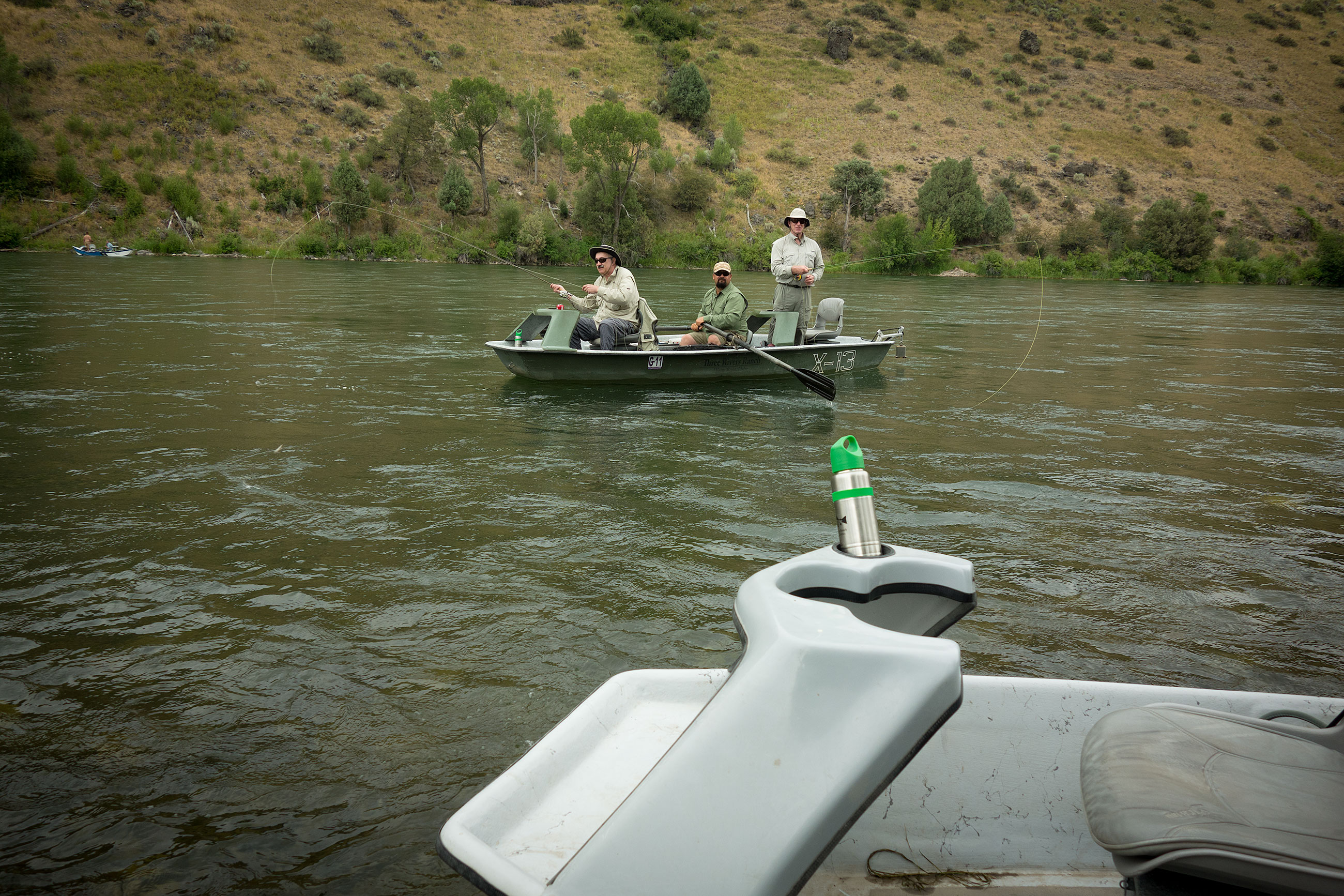 Fuad and Barry got ahead of us during our lunch stop. Nevermind as BJ the SOuth Fork side channel whore found us plenty of heads to target.