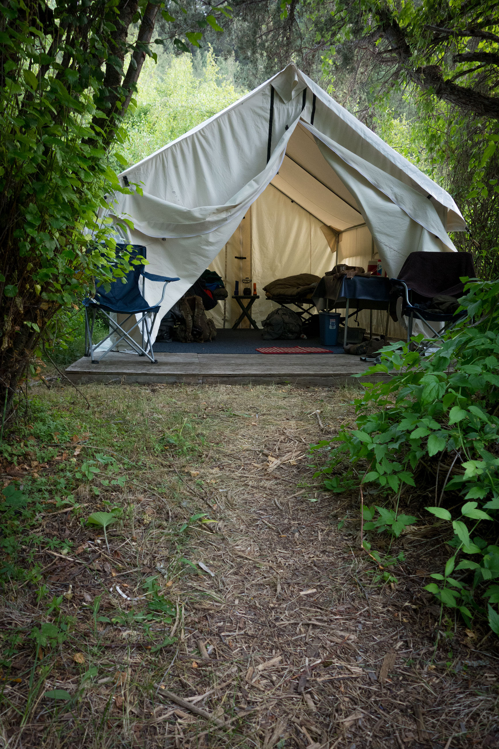 Our tent at the camp. Each pairing had their own tent, shower and bathroom facilities (albeit canvas walled!).