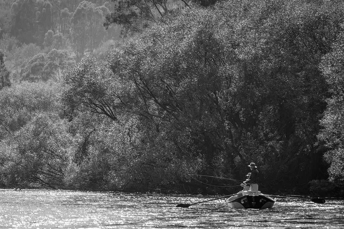 drift boat guided fly fishing goulburn river australia